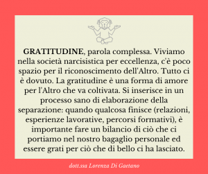 Gratitudine - psicologa psicoterapeuta Torino - Il mio pensiero su...
