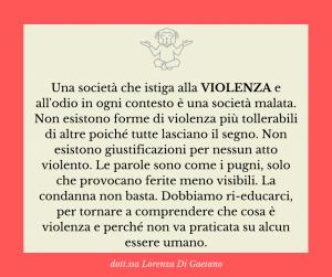 Violenza - psicologa psicoterapeuta Torino - Il mio pensiero su...